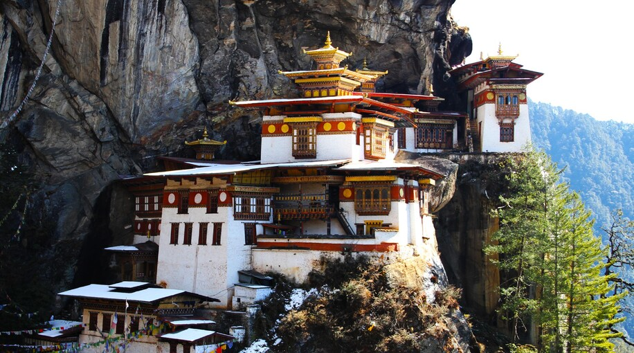 TIGER'S OR TOGER NEST MONASTERY PARO BHUTAN